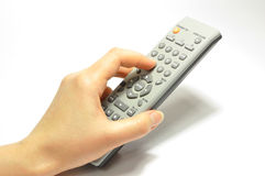Hand remote control Stock Photo