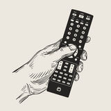 Hand remote control. vector illustration Royalty Free Stock Image