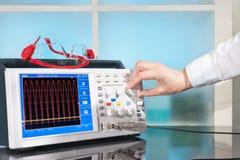 Modern oscilloscope Stock Image