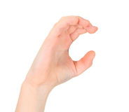 Hand represents letter C Stock Image