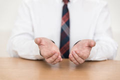 Hand reside in suit - float Stock Photography