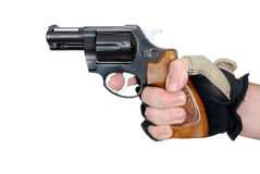 Hand with revolver Royalty Free Stock Images