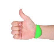 Hand  with RFID Bracelet Royalty Free Stock Images