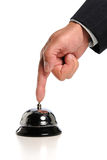 Hand Ringing Bell Stock Photography