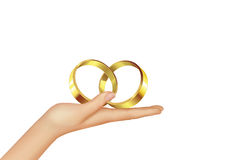Hand and rings Royalty Free Stock Photo