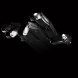 Hand robot on black background Royalty Free Stock Photo