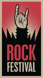 Hand in rock n roll sign Royalty Free Stock Photo