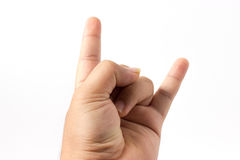 Hand of rocker Royalty Free Stock Images