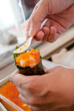 Hand roll Royalty Free Stock Photos