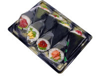 Hand-roll sushi box stock images