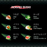 Hand roll sushi Temaki Royalty Free Stock Photos
