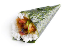 Hand roll temaki sushi Stock Images