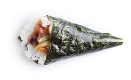 Hand roll temaki sushi Royalty Free Stock Photo