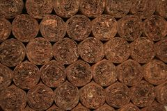 Hand rolled cuban cigars Royalty Free Stock Photos
