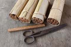 Hand-rolled Cuban cigars, Havana Stock Photos
