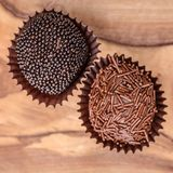 Hand Rolled Gourmet Chocolate Truffels royalty free stock image