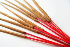 Hand-rolled Indian incense Stock Photo