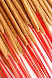 Hand-rolled Indian incense. With red wood sticks Stock Image