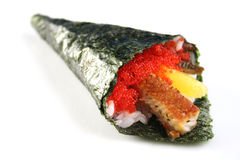 Hand rolled temaki Royalty Free Stock Photo