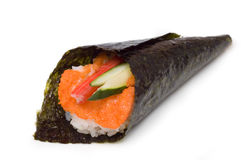 Hand rolled temaki Royalty Free Stock Photos
