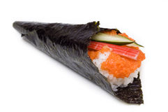 Hand rolled temaki Royalty Free Stock Image