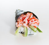 Hand rolled temaki sushi Stock Image