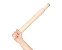 Hand with rolling pin Royalty Free Stock Photography