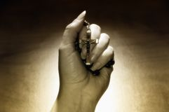 Hand with rosary Royalty Free Stock Photography