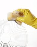 Hand in rubber glove 18 Royalty Free Stock Photography