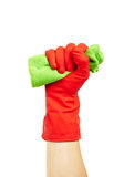 Hand in rubber glove Royalty Free Stock Photo