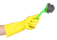Hand in rubber glove Royalty Free Stock Photography