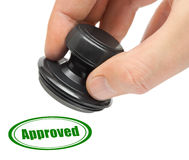Hand and rubber stamp Approved Royalty Free Stock Photography