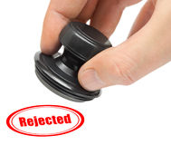 Hand and rubber stamp Rejected Stock Photos