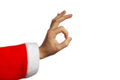 hand s santa Arkivbilder