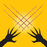 Hand's werewolf cut x cross shape and blood, Halloween Royalty Free Stock Photography