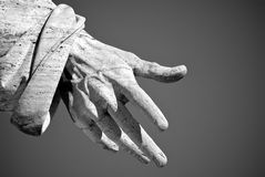 The hand of the Saints Peter in Rome Royalty Free Stock Photo
