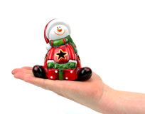 Hand and santa claus Stock Image