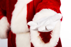 Hand of Santa Claus Stock Images