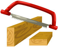 Hand saw. Illustration of isolated hand saw on white background vector illustration