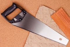 Hand saw for wood Royalty Free Stock Photos