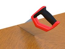 Hand saw for wood work. Royalty Free Stock Photography