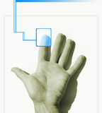Hand scan royalty free stock photography
