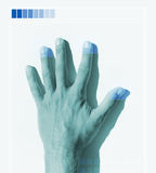 Hand scan Stock Image