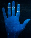 Hand scan Stock Photos