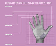 Hand scan Stock Photography