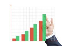 Hand schreiben Diagramm Stockfotos