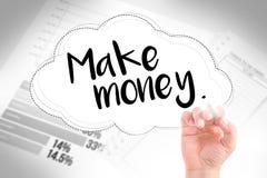 Hand schreiben geborenes verdienen Geld Stockbilder