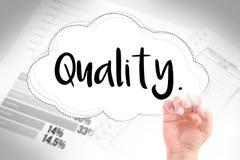 Hand schreiben Qualität Lizenzfreie Stockbilder