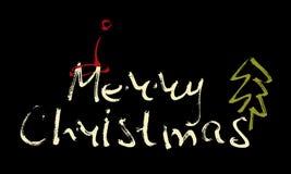 Hand schriftliche Aufschrift frohe Weihnachten Lizenzfreies Stockfoto