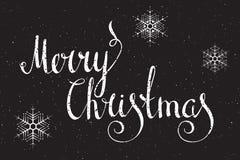 Hand schriftliche Aufschrift frohe Weihnachten Lizenzfreie Stockfotografie